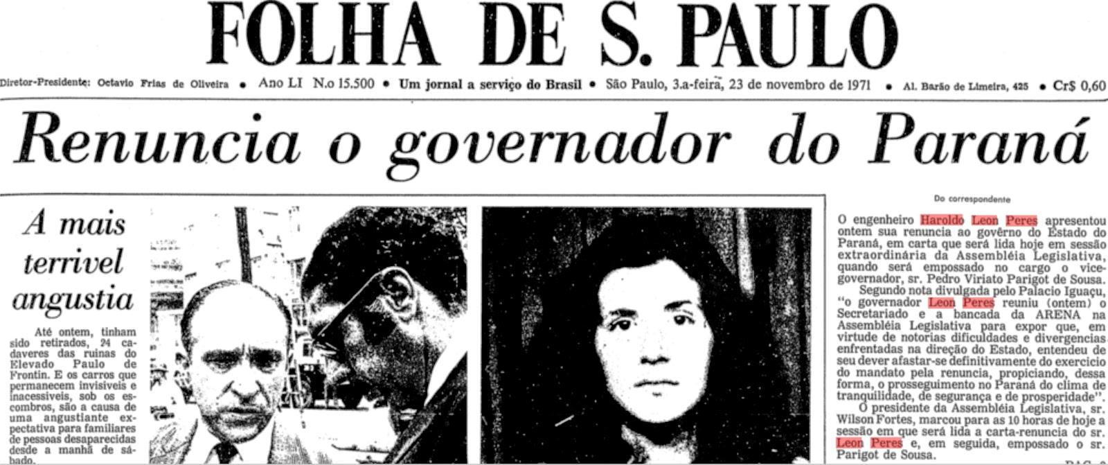 Extra: Renúncia de Haroldo Leon Peres