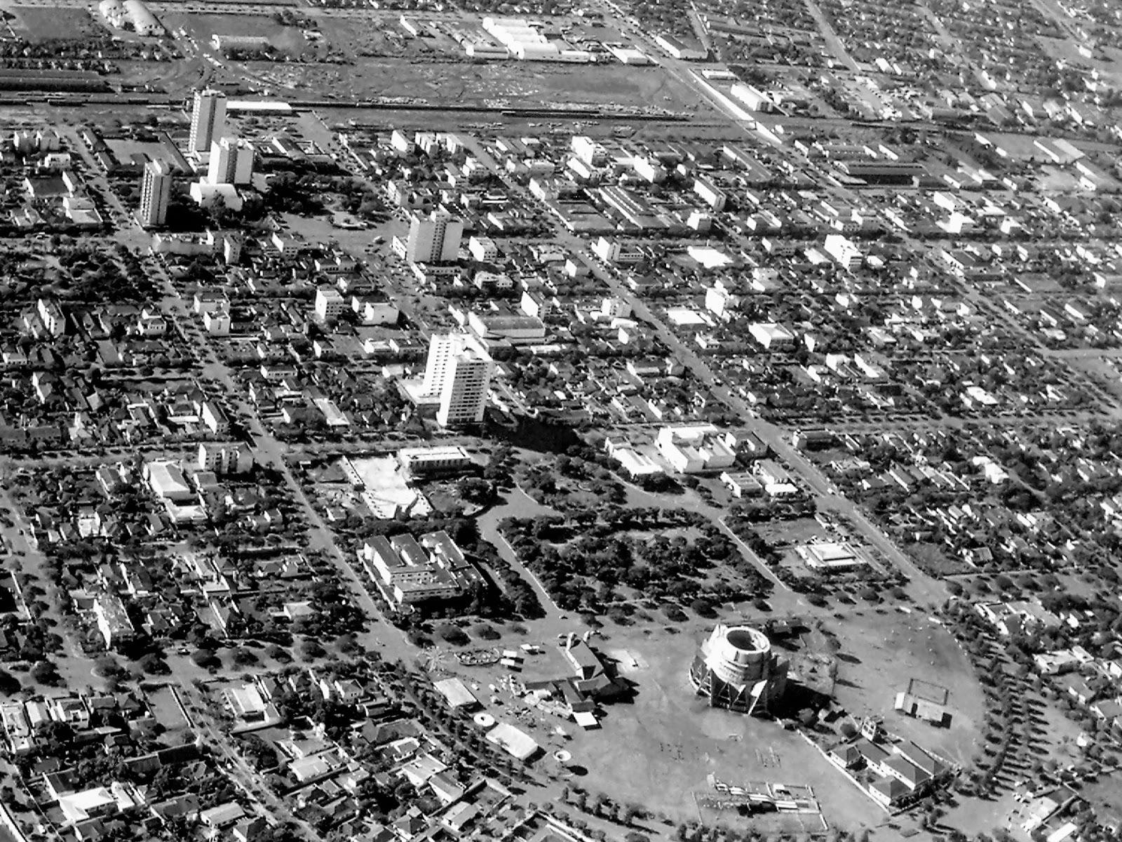 Vista aérea - Década de 1960