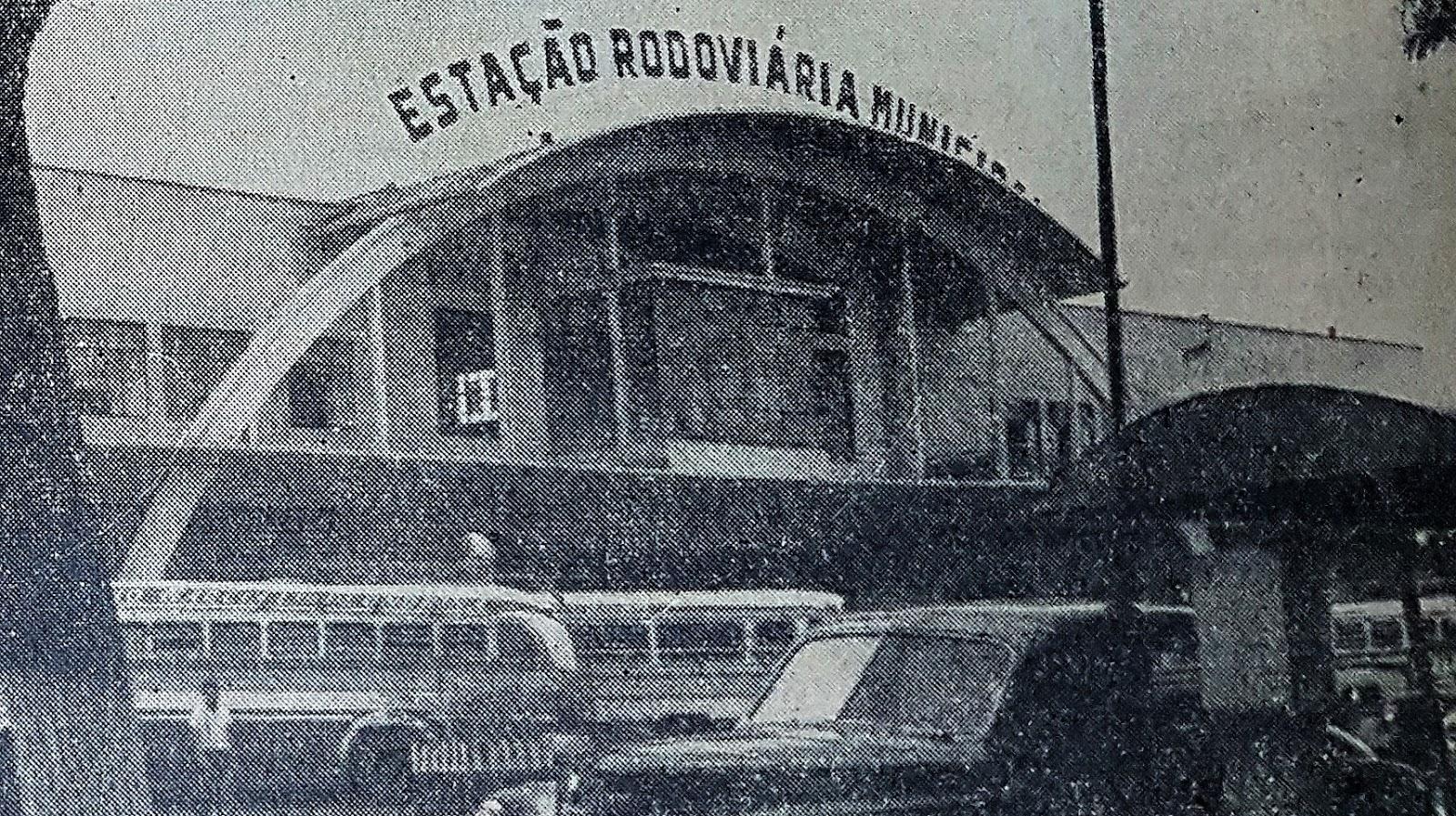 Movimento de passageiros na Estação Rodoviária - 1964