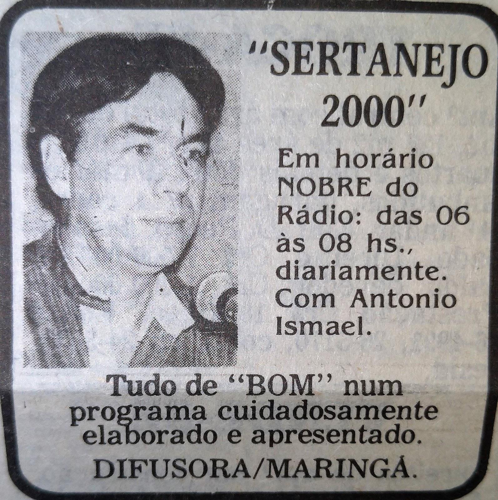 Programa Sertanejo 2000 com Antonio Ismael - 1990