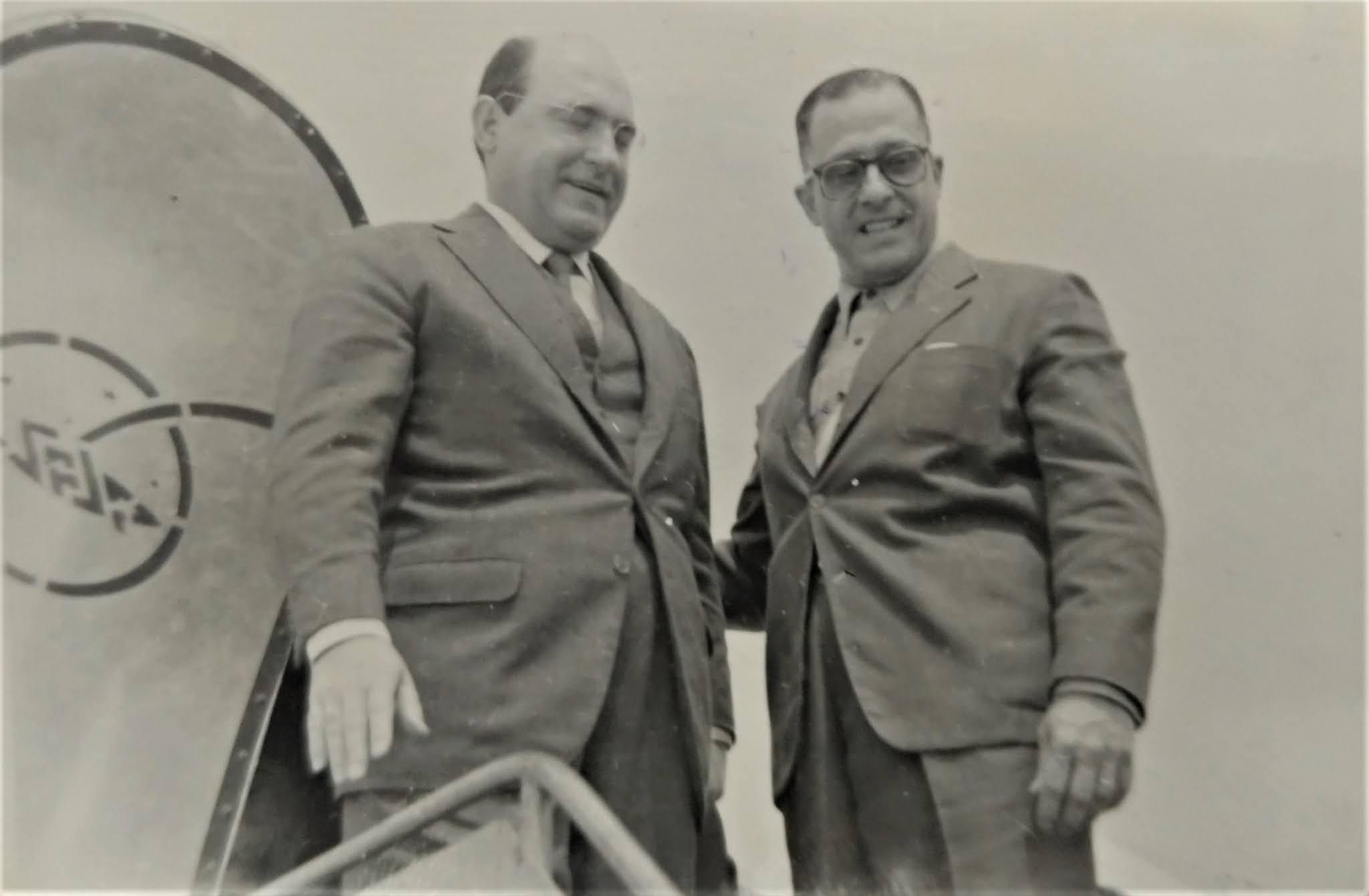 Moysés Lupion e Hermann Moraes Barros - 1956