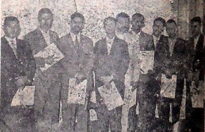 Vereadores e prefeito - Diplomação em 1957