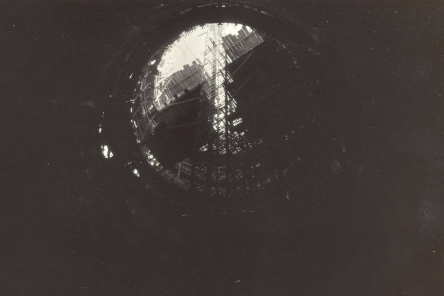 Interior da Catedral em construção - Década de 1970