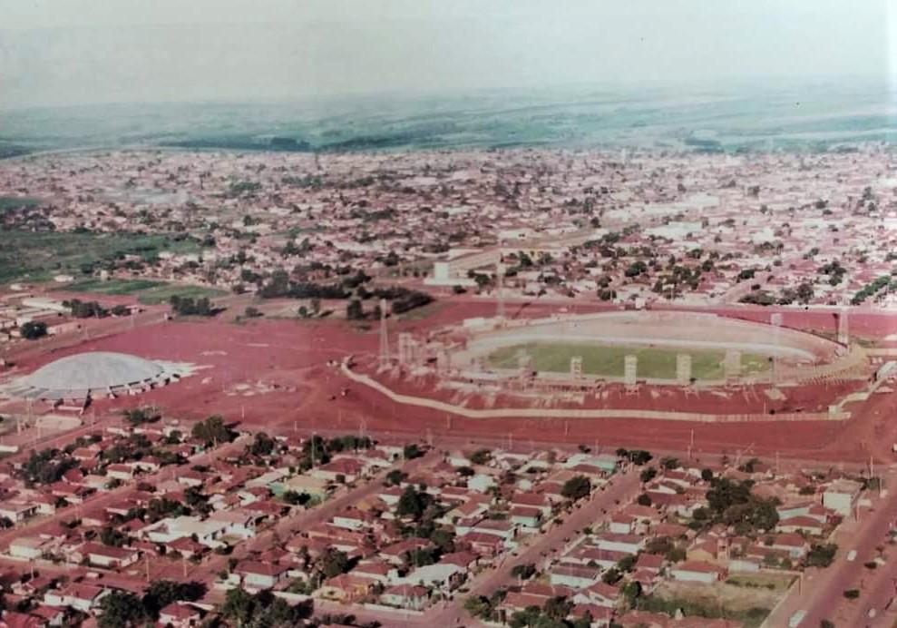 Obras no Estádio Regional Willie Davids - Anos 1970