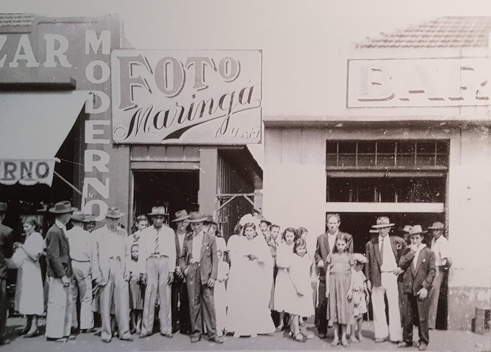 Casamento na avenida Duque de Caxias - Década de 1950