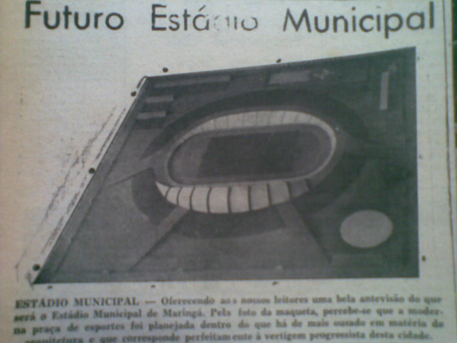 Projeto do Estádio Municipal Willie Davids em 1963