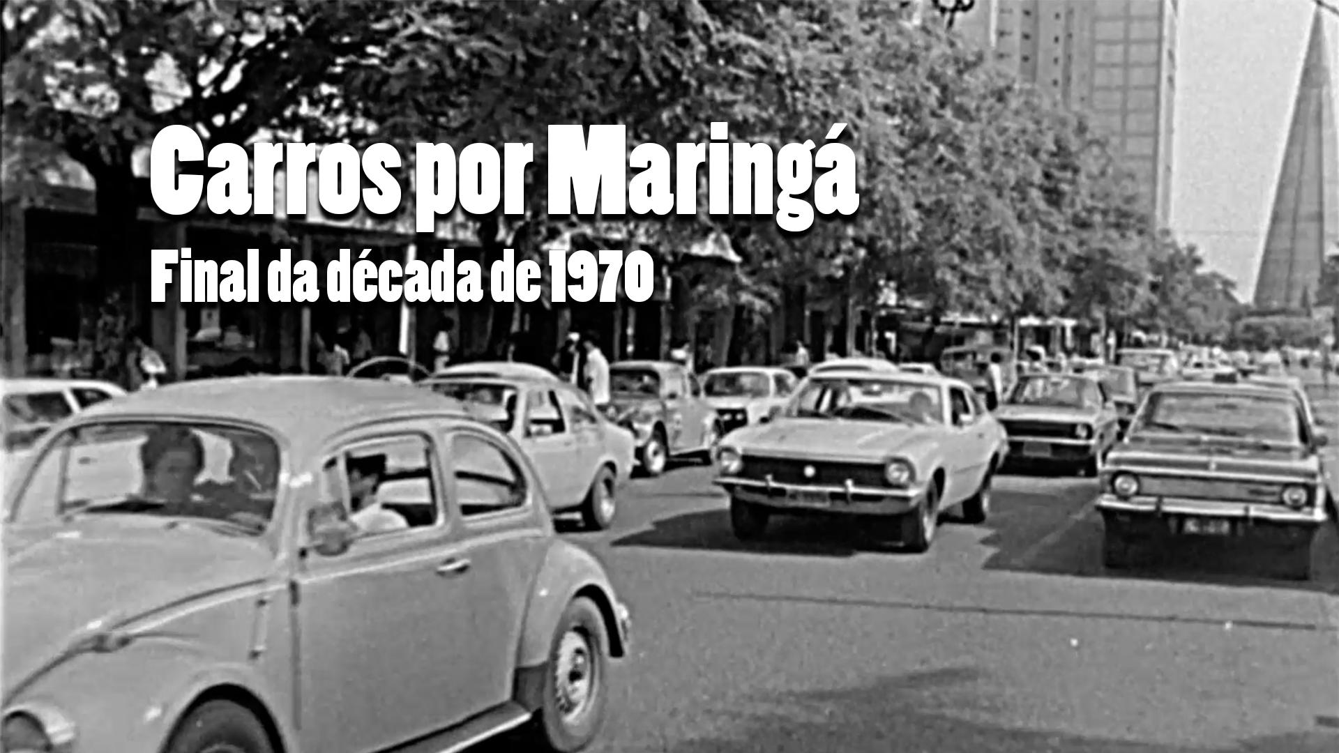 RARIDADE - Circulação de carros nos anos 1970