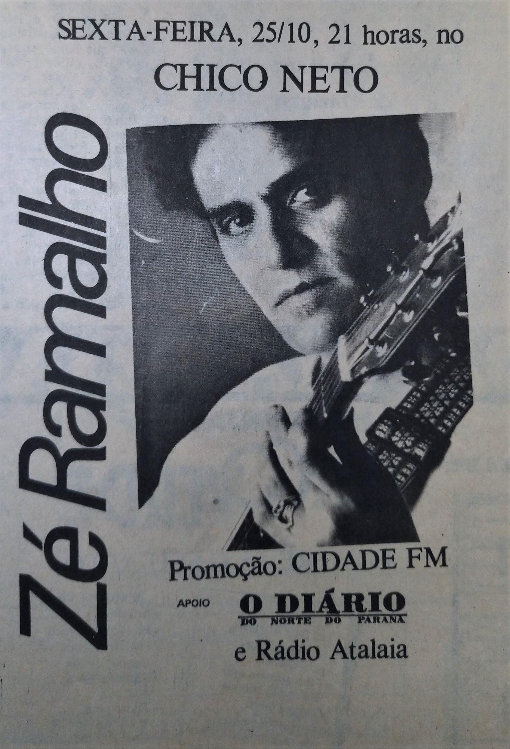 Zé Ramalho no Chico Netto - 1985