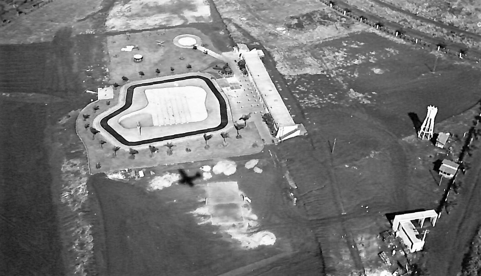 Country Club de Maringá em obras - Final dos anos 1950