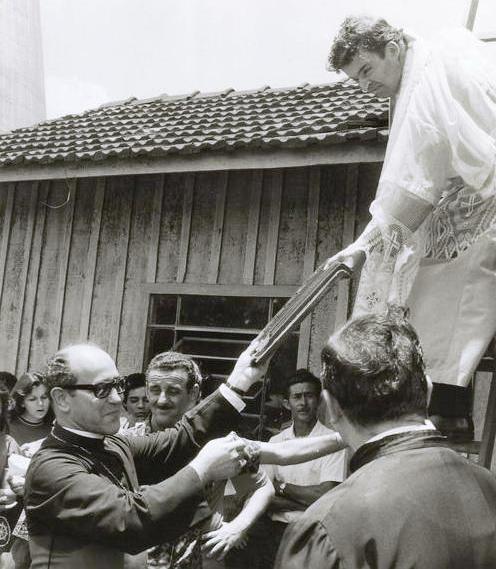 Destelhamento da Catedral de madeira - 1973