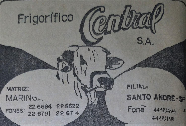 Anúncio do Frigorífico Central - Anos 1970