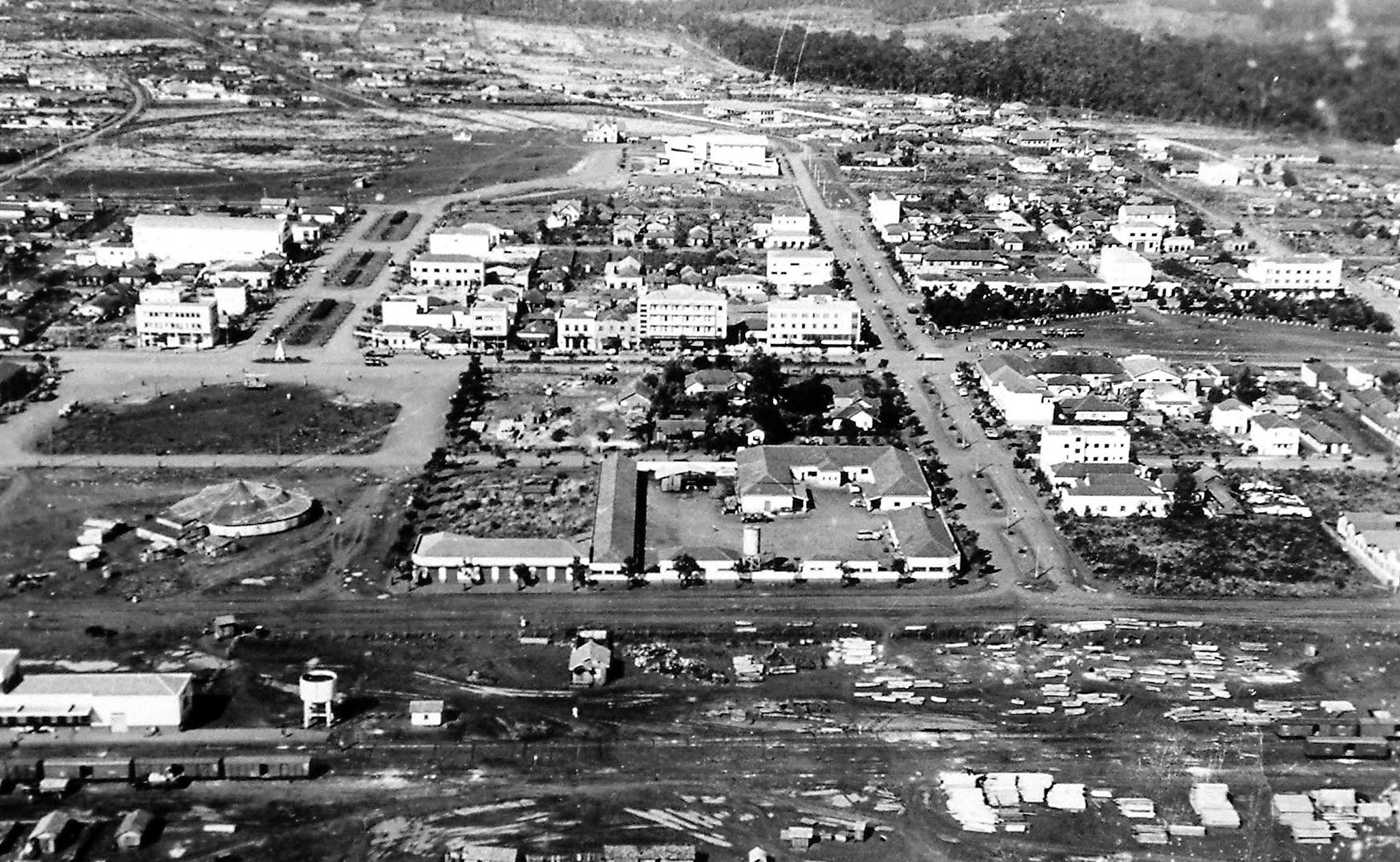 Vista aérea de Maringá - 1957