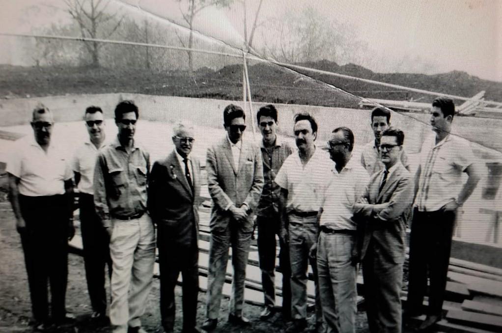 Construção da piscina do Clube Olímpico - 1963
