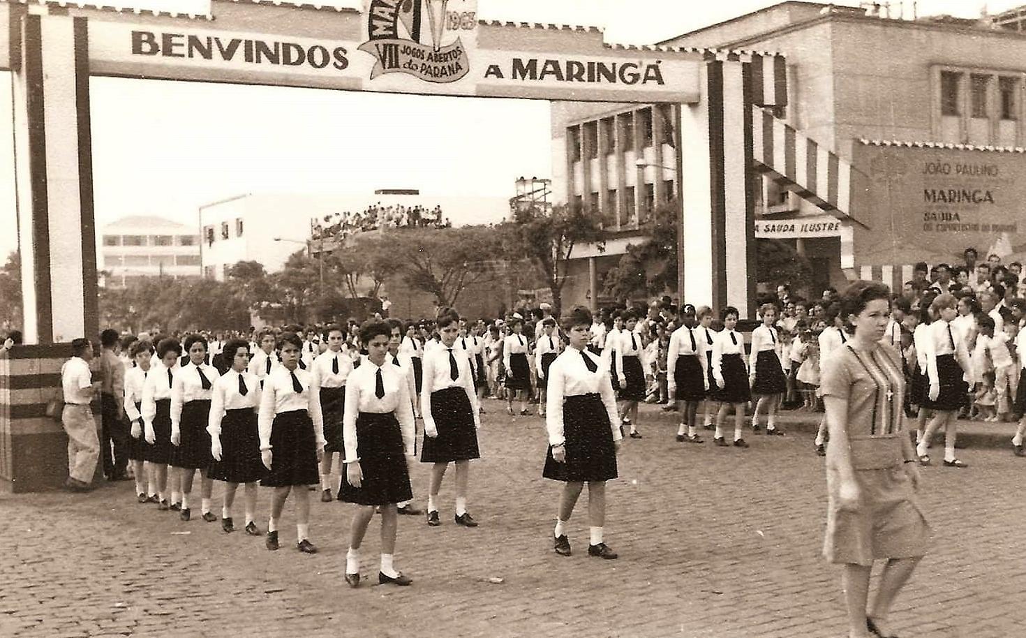 Abertura dos Jogos Abertos do Paraná - 1963