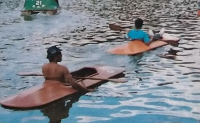 Caiaques no Parque do Ingá - 1991
