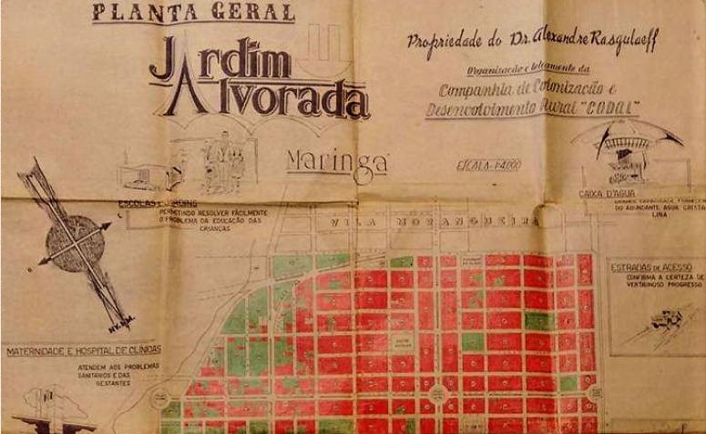 Mapa do Jardim Alvorada - Década de 1960