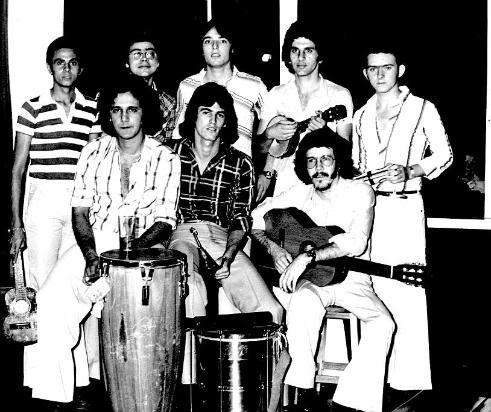 Conjunto musical no Clube Hípico - 1975