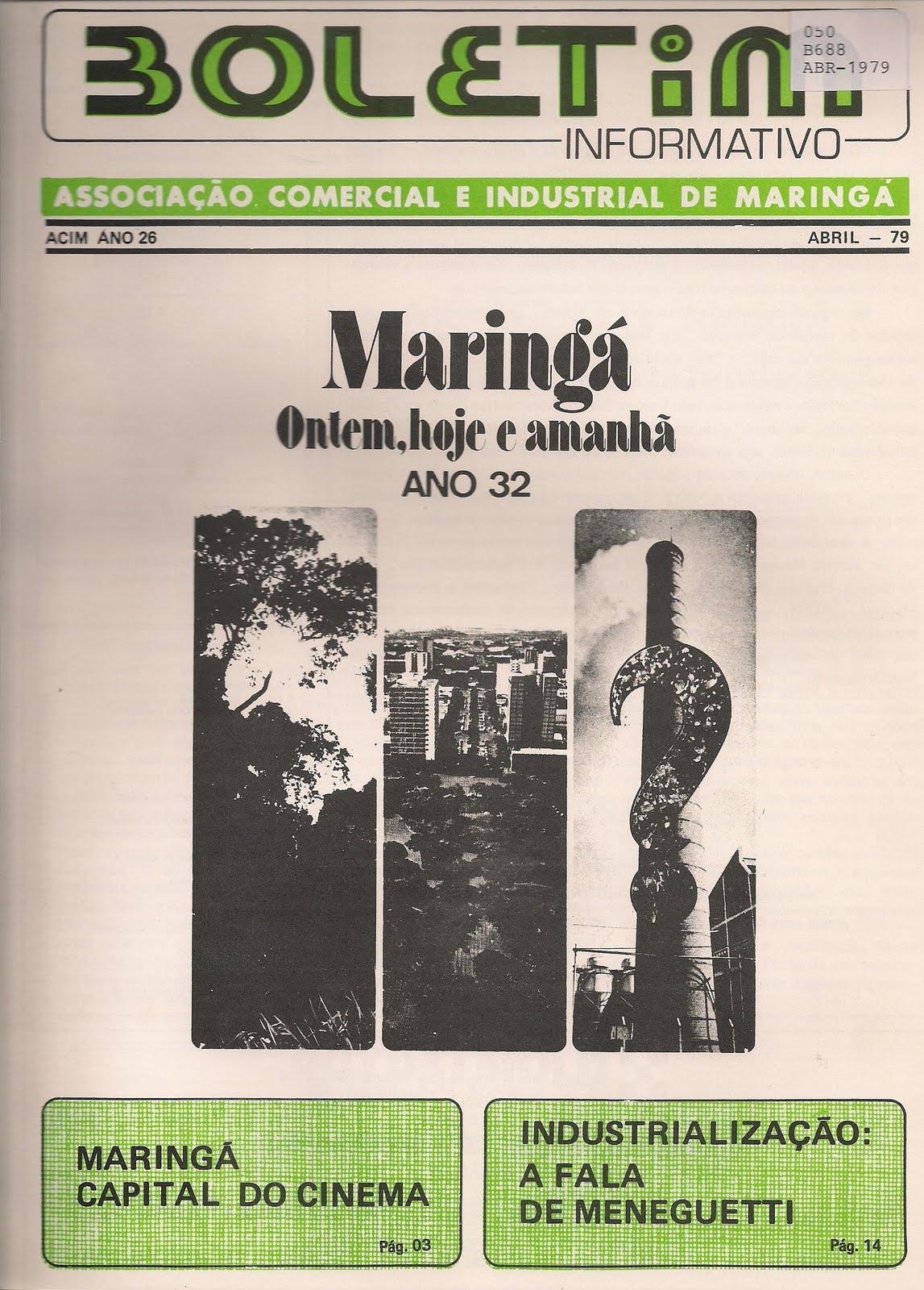 Boletim Informativo ACIM - Abril de 1979