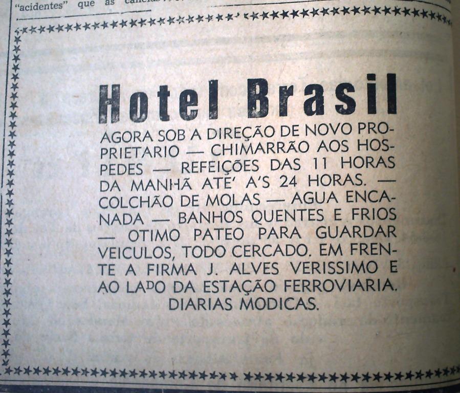 Anúncio - Hotel Brasil - Década de 1950