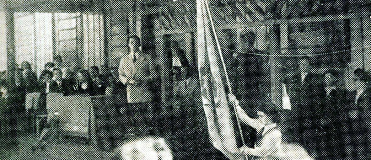 Inauguração oficial do Ginásio Santa Cruz - 1956