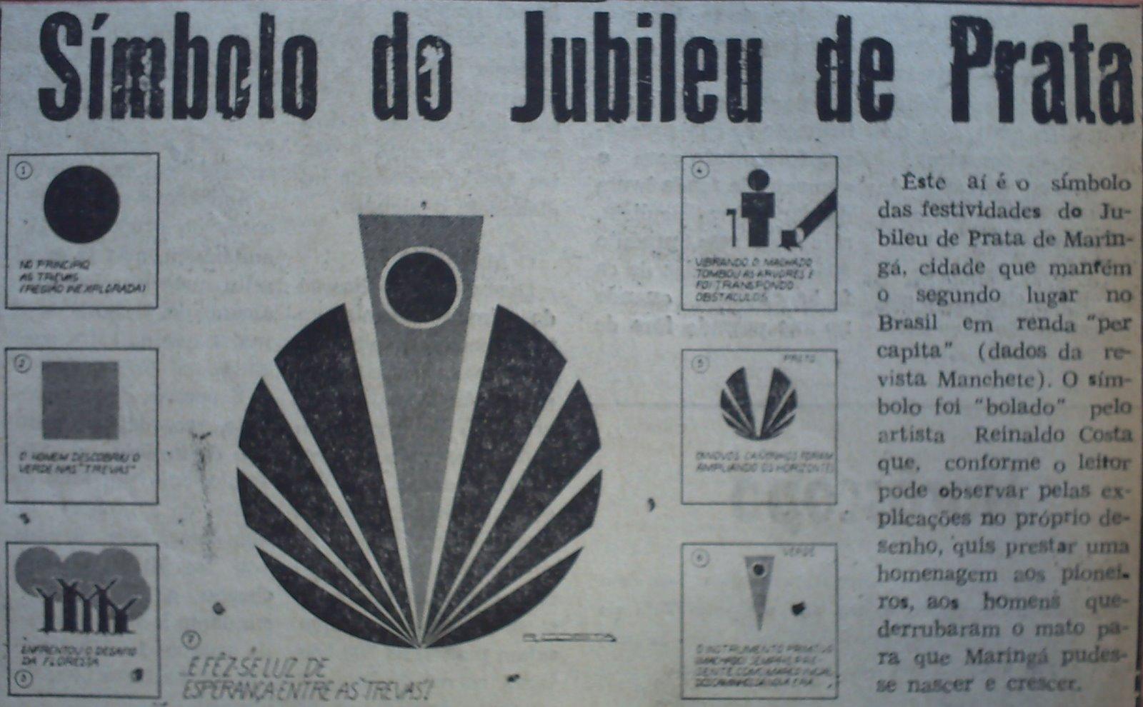 Explicação do Símbolo do Jubileu de Prata de Maringá