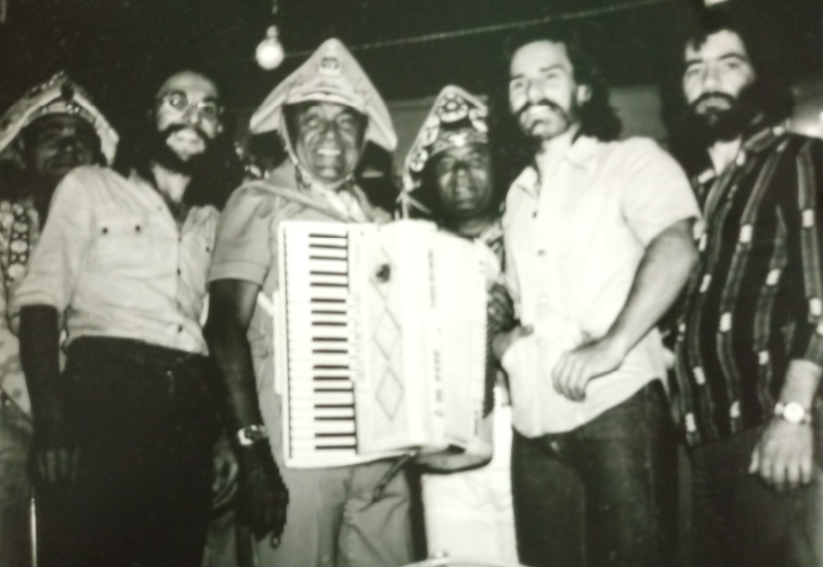 Luiz Gonzaga com a banda S-Quatro - 1976
