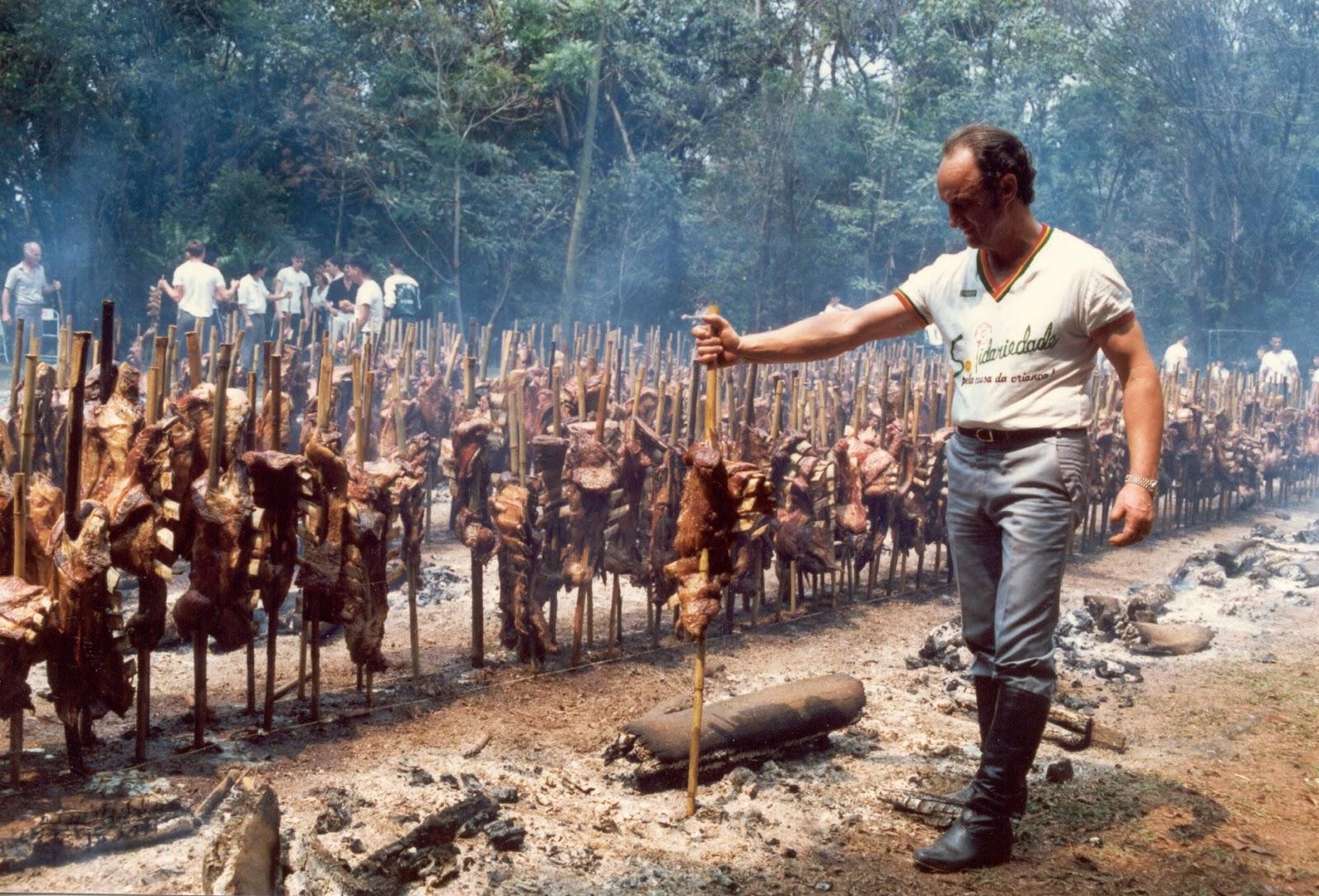 Grande churrasco no Parque do Ingá - Anos 1980