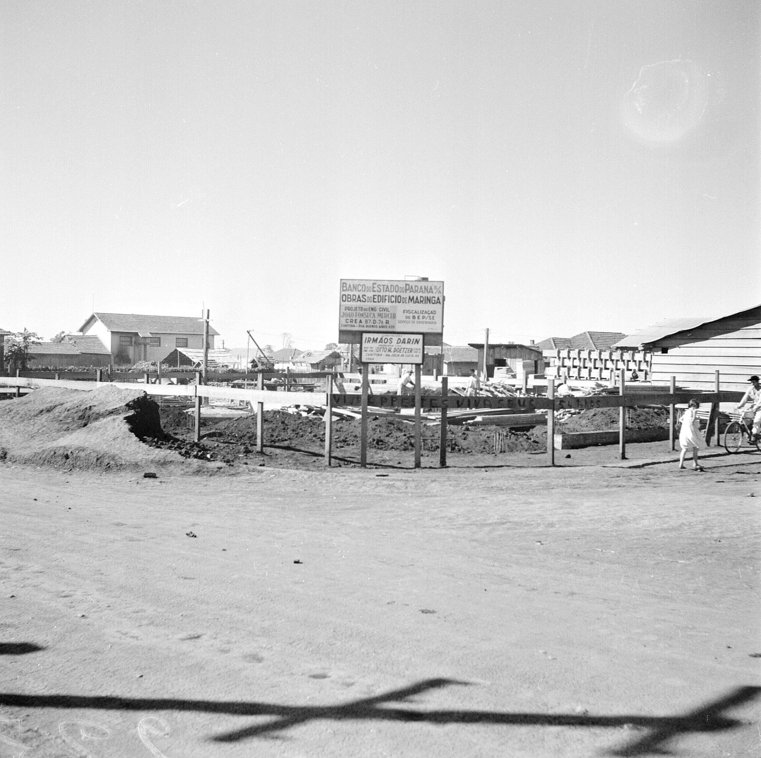 Obras do Banco do Estado do Paraná - Anos 1952