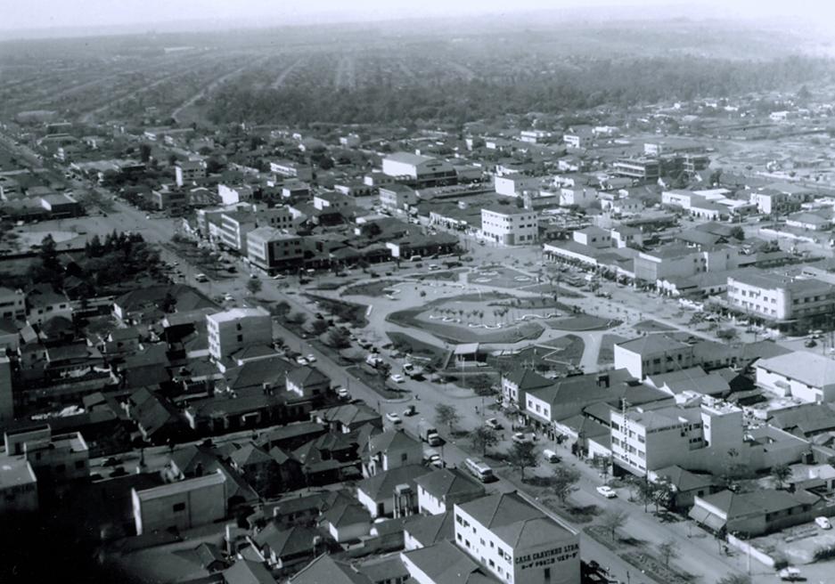 Vista aérea do Maringá Novo - Década de 1960
