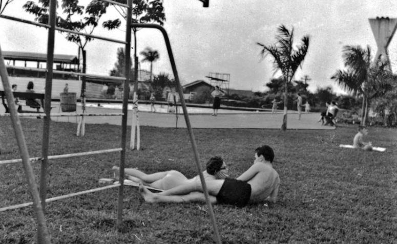 Interior do Maringá Clube - 1960