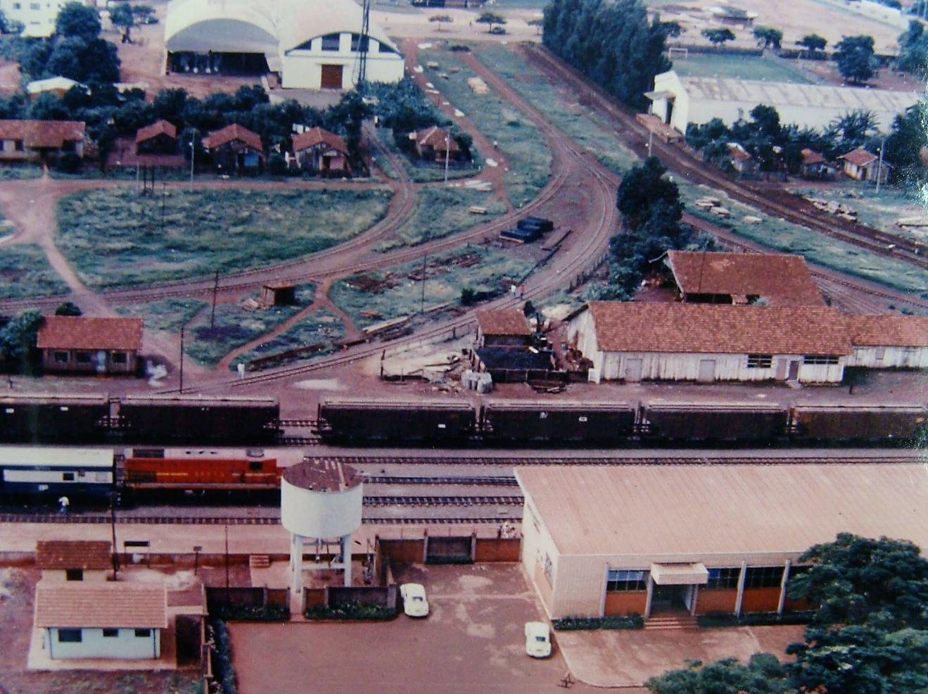 Pátio da Estação Ferroviária - Década de 1980