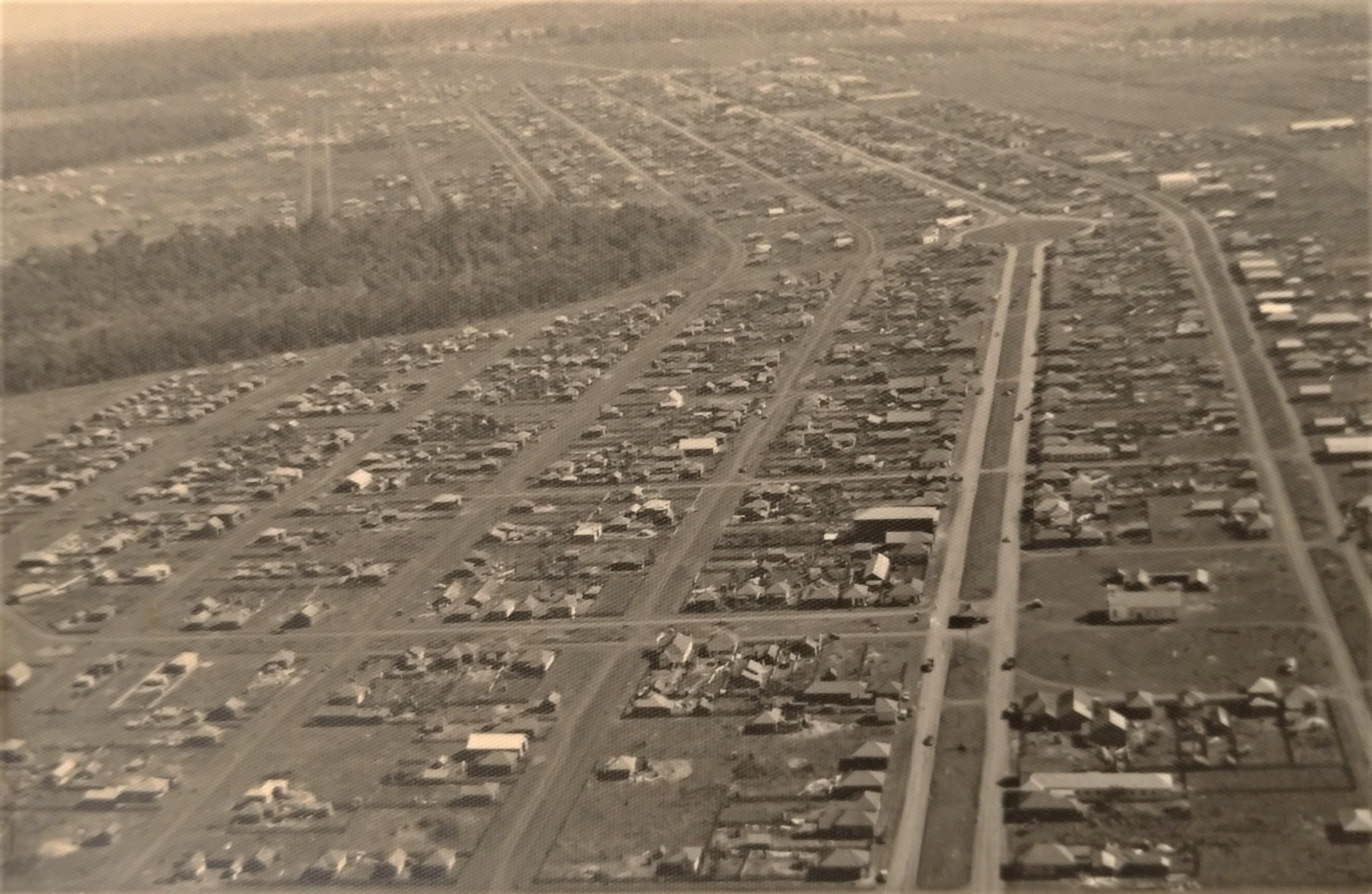 Vista aérea da Vila Operária - 1952