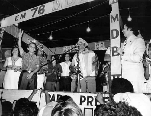 Showmício com Luiz Gonzaga - 1976