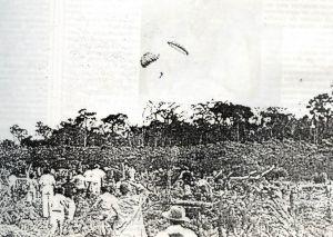1º Paraquedista que saltou em Maringá - 1949