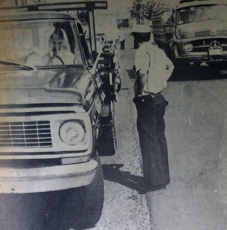 Blitz na avenida Colombo - Janeiro de 1979