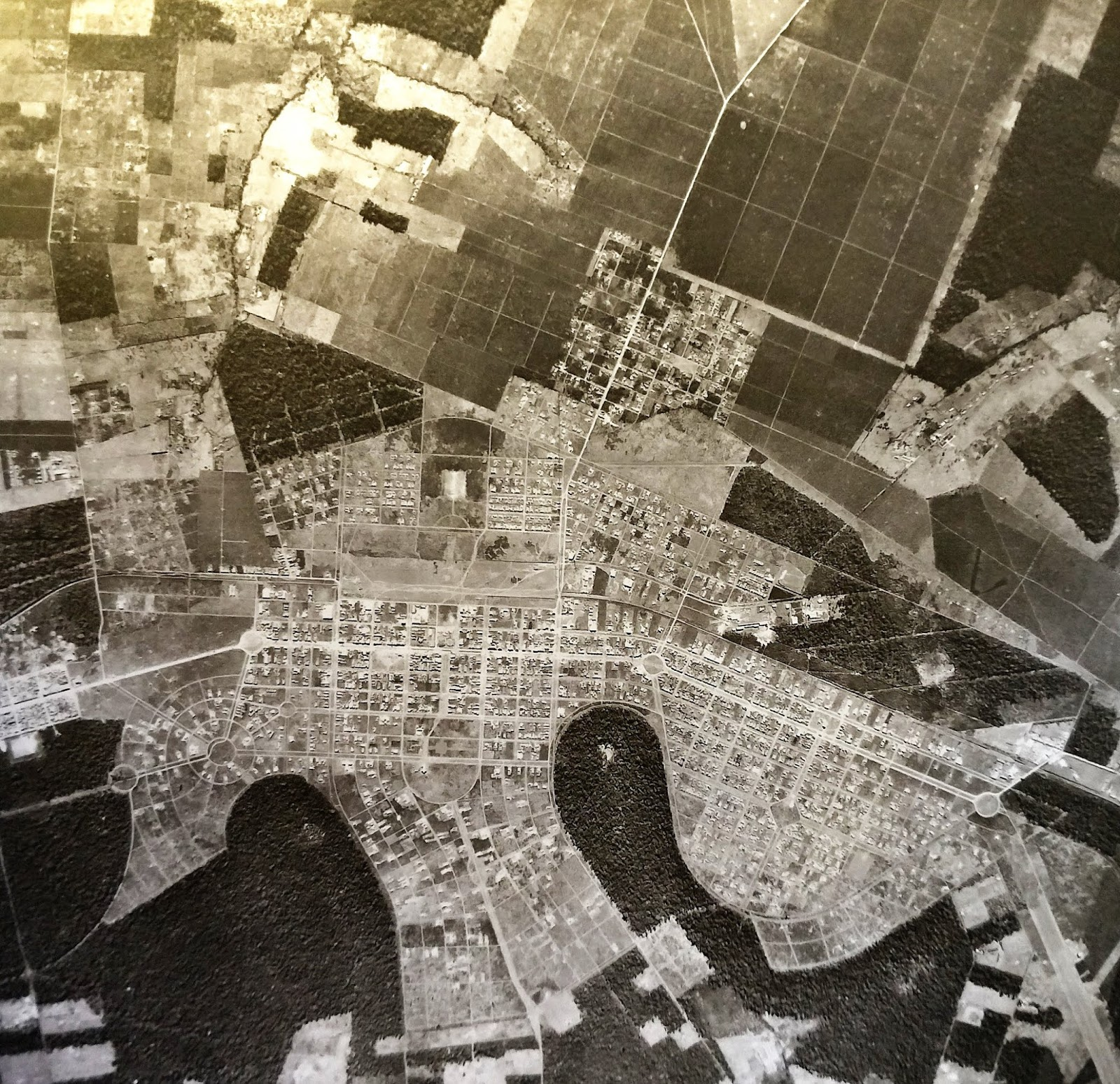 Levantamento aerofotogramétrico - Década de 1950