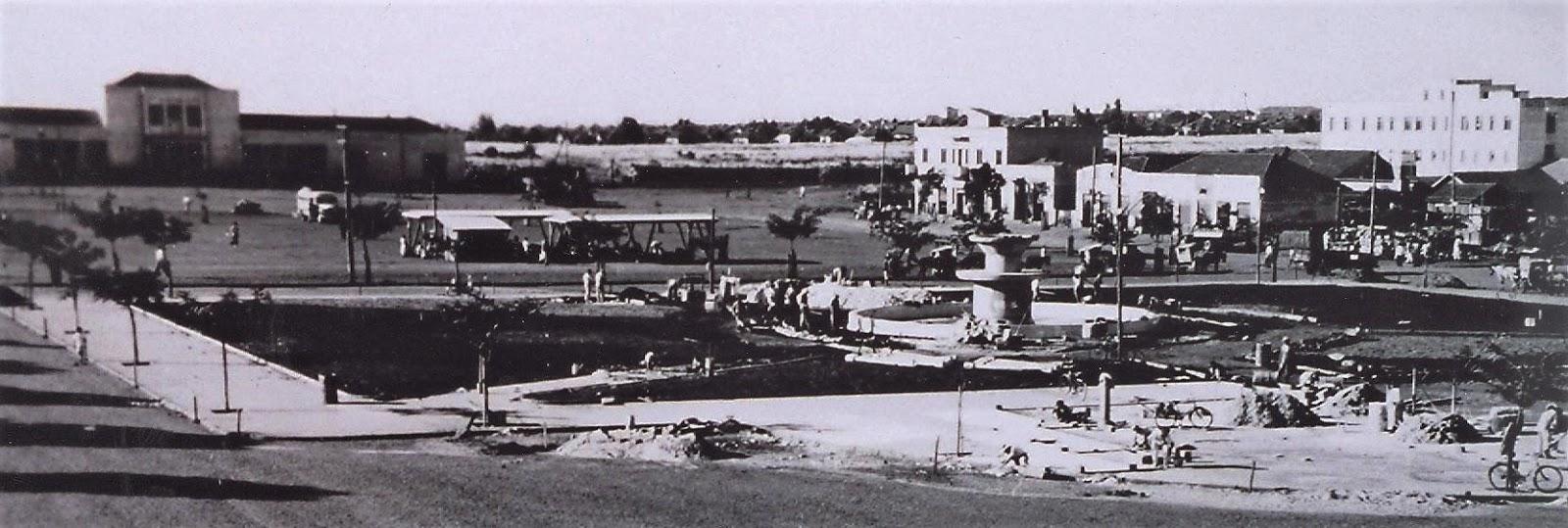 Praça Raposo Tavares - Início de 1957