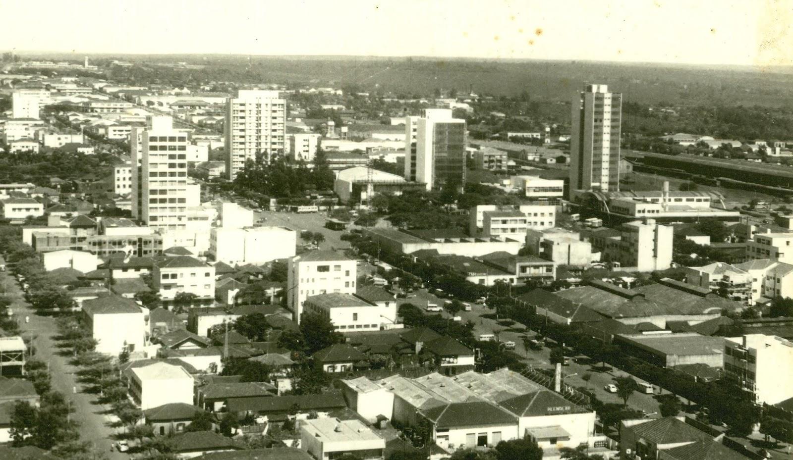 Vista aérea do Centro - Década de 1960