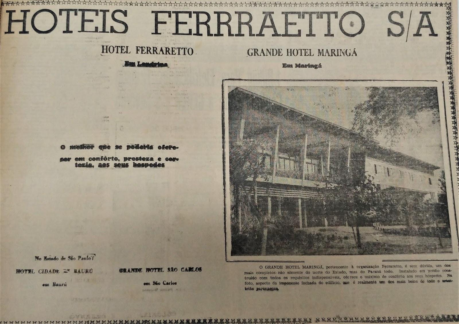 Hotéis Ferraretto S/A - 1962