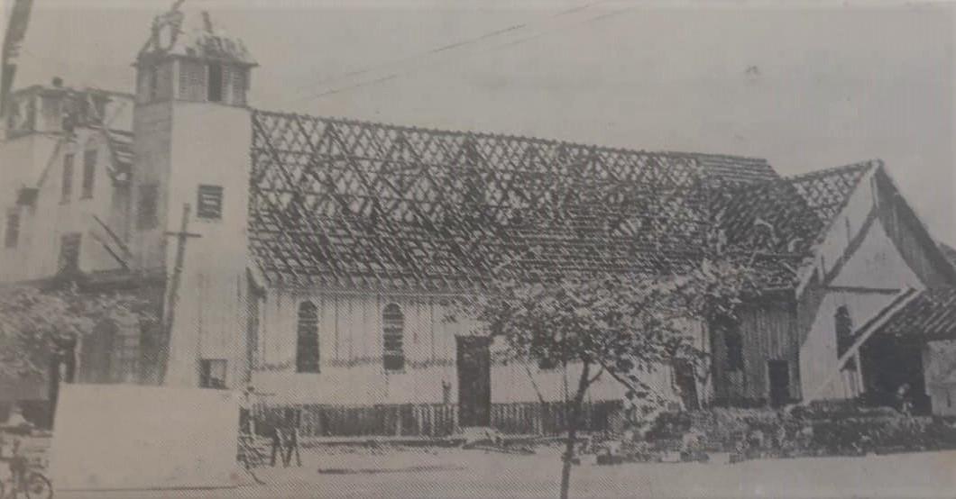 Desmontagem da Catedral de madeira - 1973