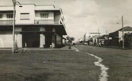 Avenida Paraná x Rua Santos Dumont - Década de 1960