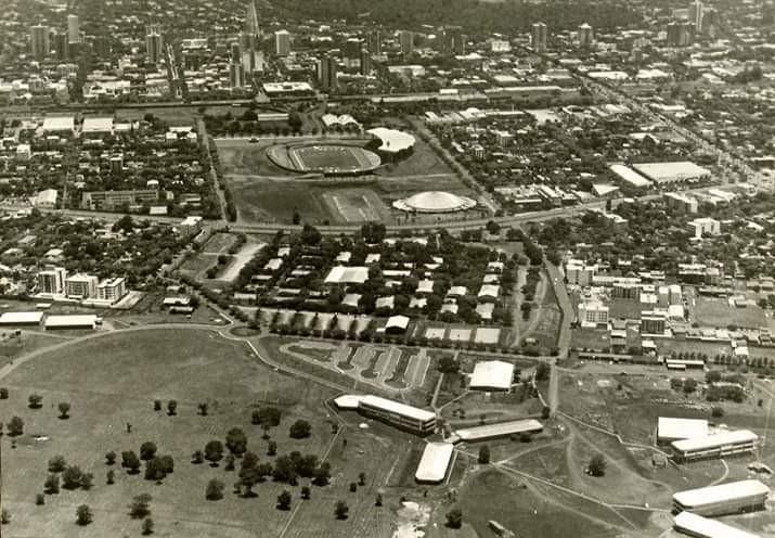 Vista aérea da UEM - 1982