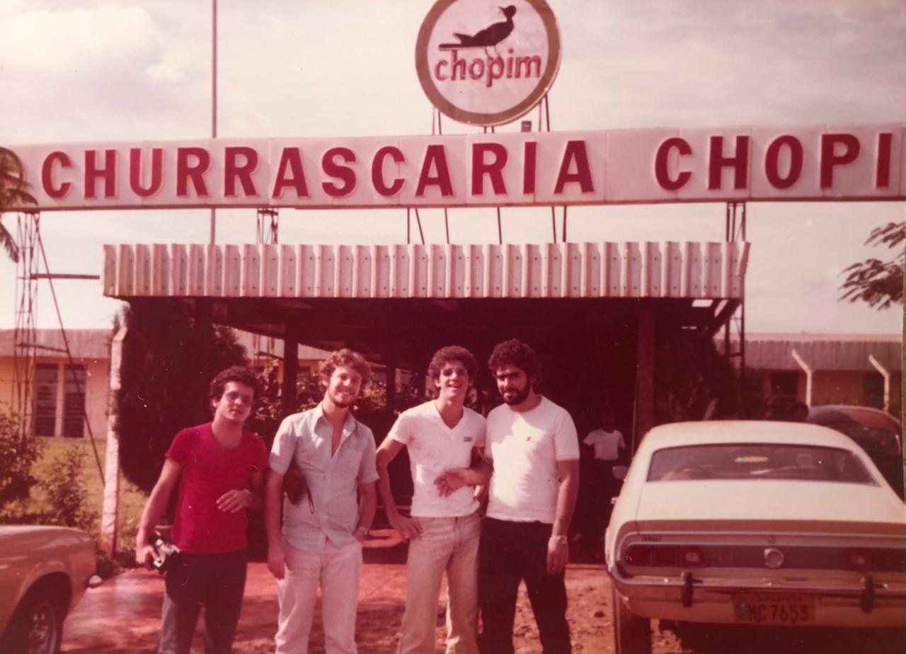 Fachada da Churrascaria Chopim - 1979