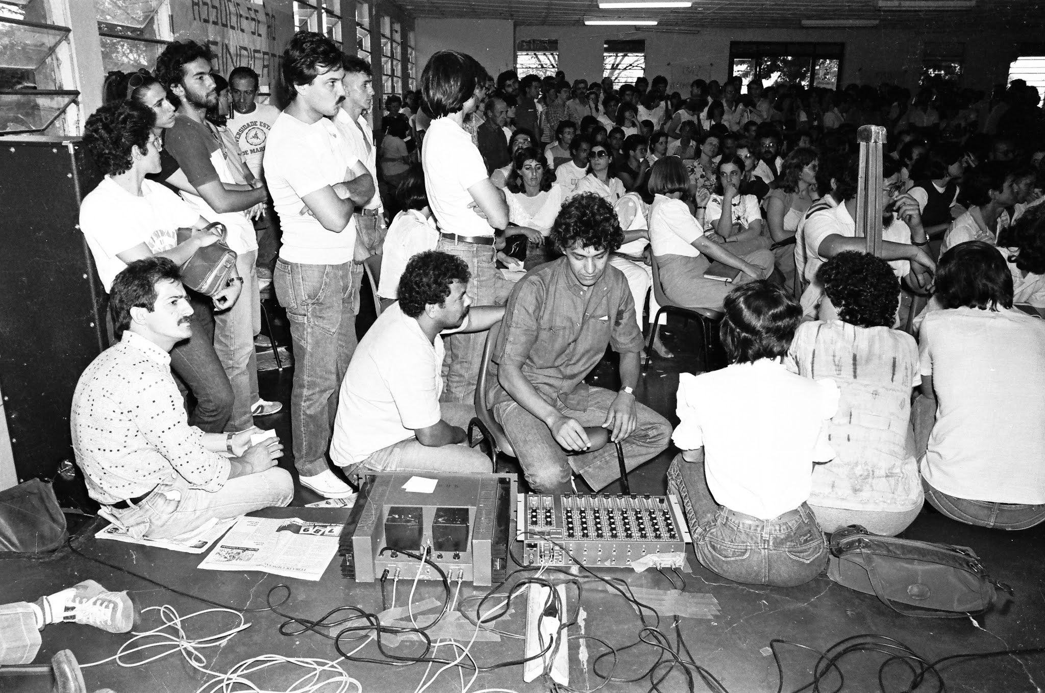 Assembleia no DACESE da UEM - Década de 1980