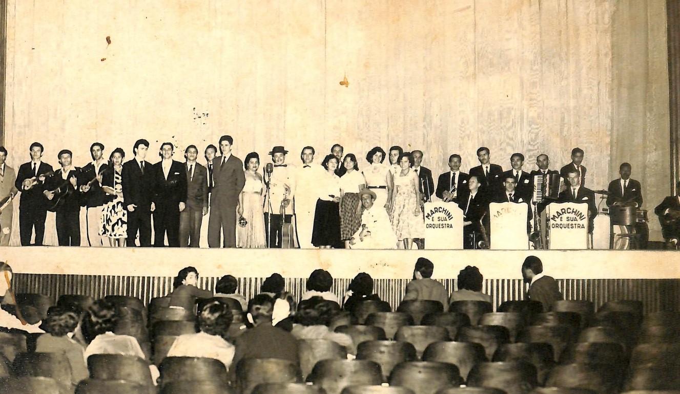 Apresentação musical no cinema - Década de 1950