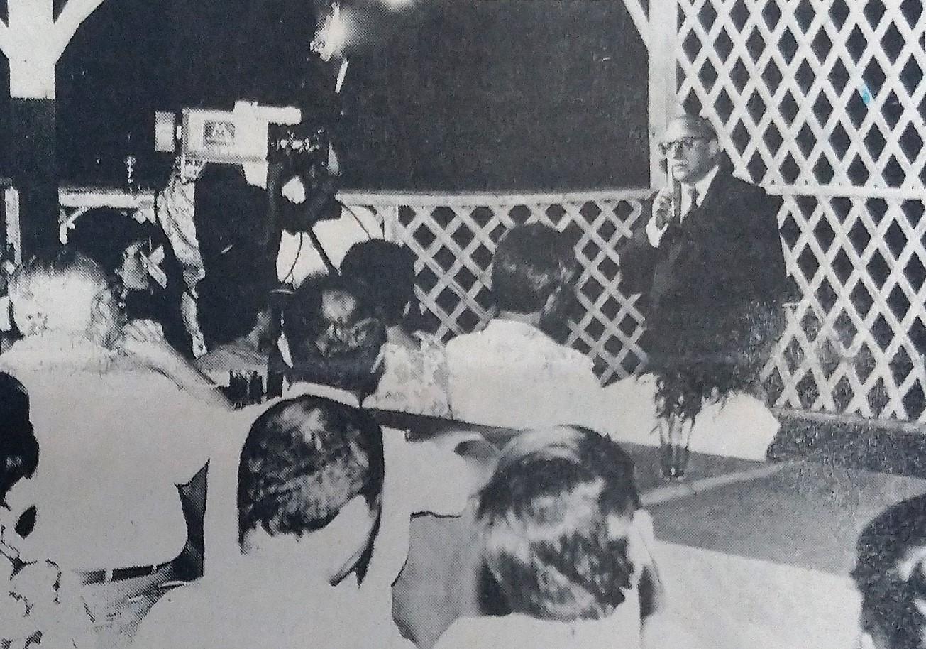 Instalação da TV Vanguarda de Maringá - Dezembro de 1988