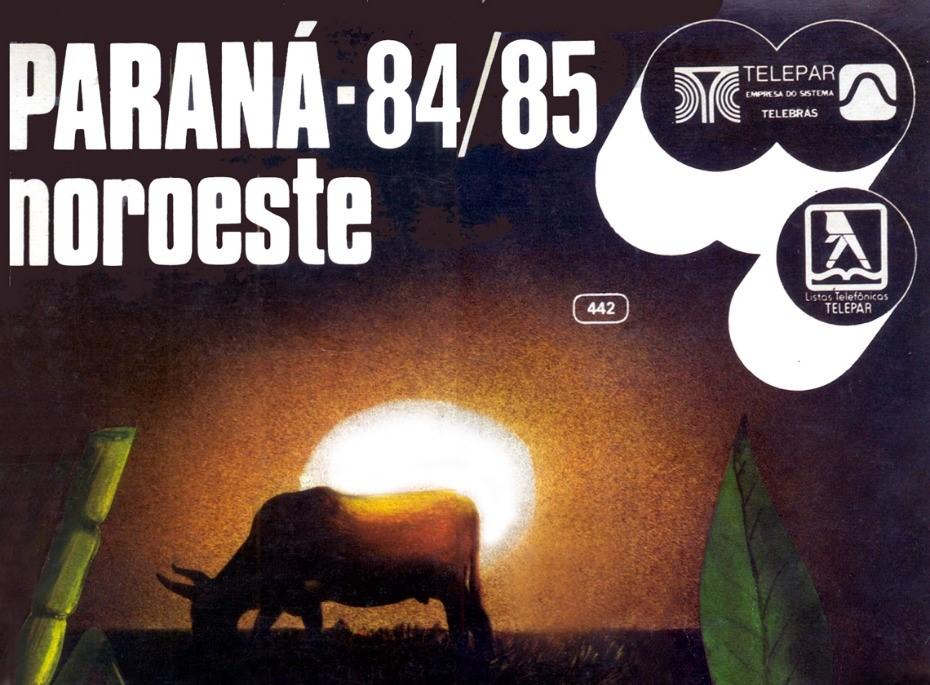 Capa da lista telefônica do Noroeste do Paraná - 84/85