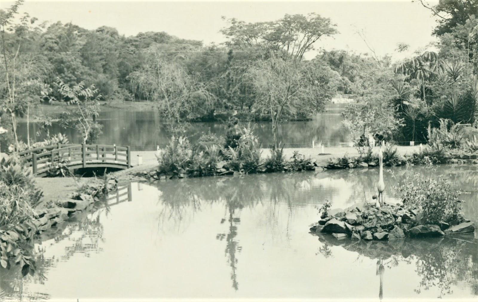 Jardim Japonês do Parque do Ingá - Década de 1980