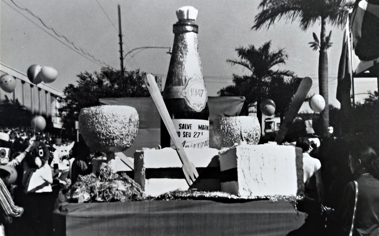 Desfile de aniversário de Maringá - 1974
