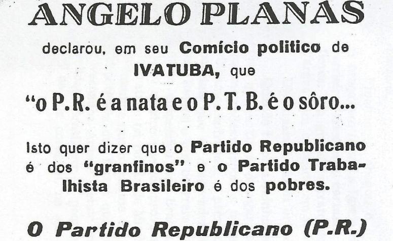 Jogo eleitoral - Campanha de 1952